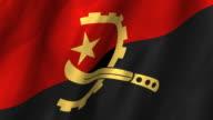Angloa Flag - looping, waving video