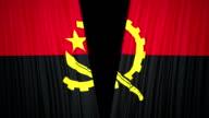 Angola flag curtain cloth video