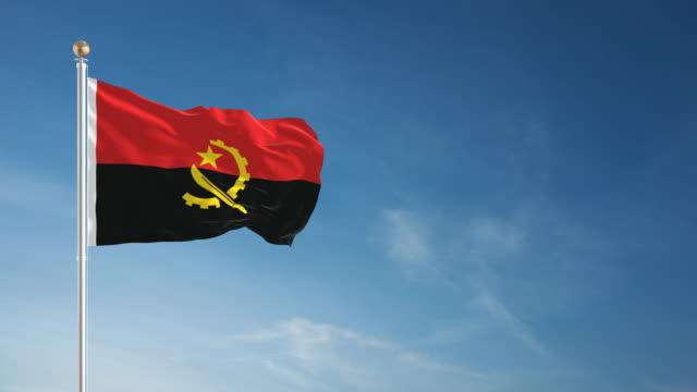 4K Angola Flag - Loopable video