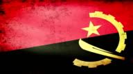 Angola Flag Waving, grunge look video