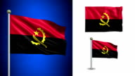 Angola flag - with Alpha channel, seamless loop! video
