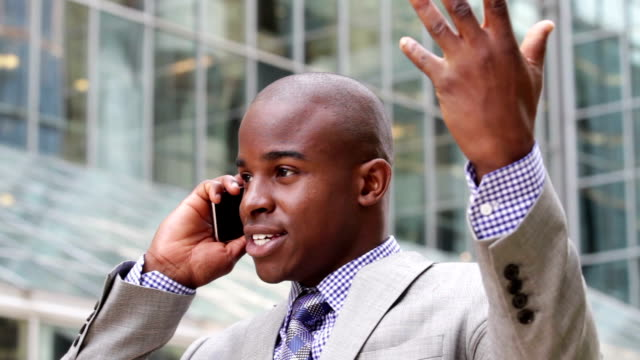 Angry businessman on the phone video