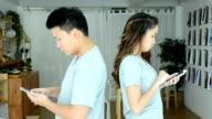Angry Couple Using Tablet video