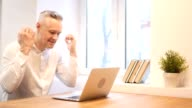 Angry Middle Age Man Working on Laptop video