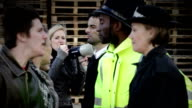 Angry mob of demonstrators video