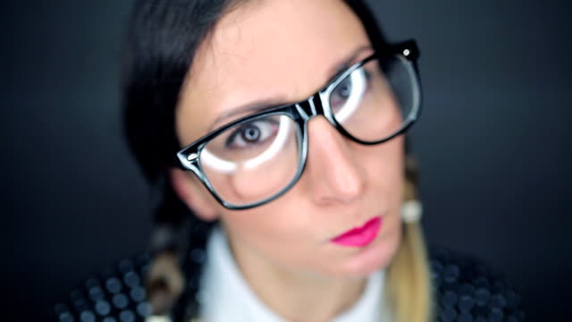 Angry nerdy girl! video