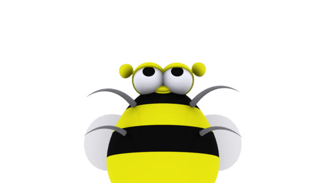 Animated 3D Bee Flying Around Having Fun video