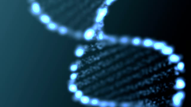 Animated abstract DNA, HD 1080p, loop. video