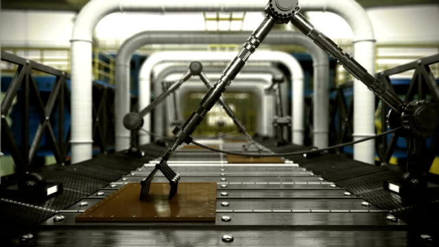 animated abstract technological industrial transporter background with place for logo video