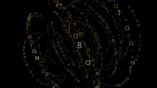 Animated alphabet abstract background video