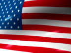 Animated American Flag video
