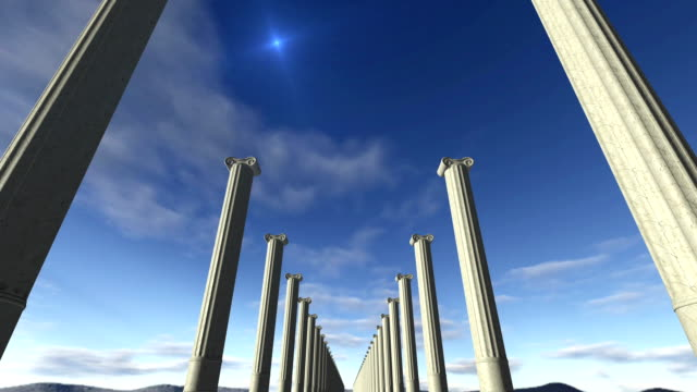 Animated ancient greek columns Loop-able video