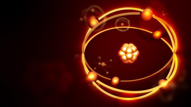 Animated atom model. Full HD video
