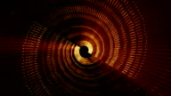 Animated background consisting of a moving line of spinning spiral video