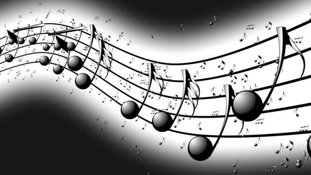 Animated background with musical notes. video