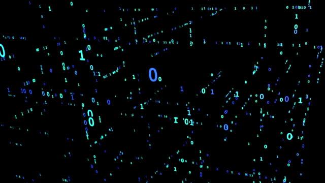 Animated Binary Matrix Grid video