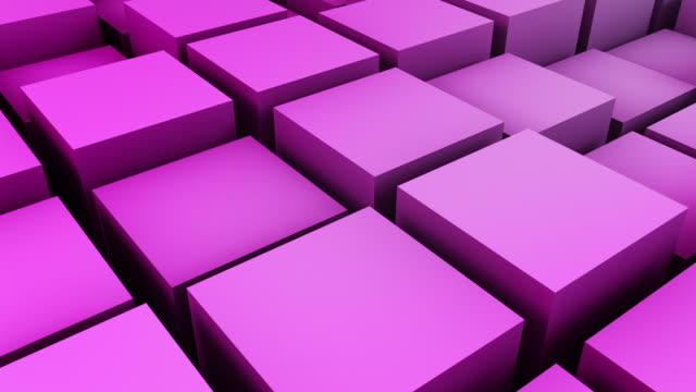 Animated Boxes Loop - Pink (Full HD) video