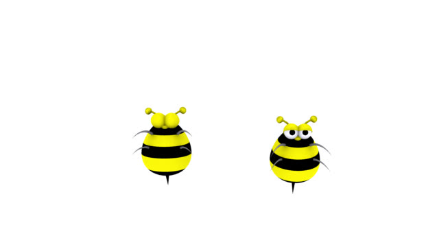 3D Animated Bumble Bees Flying In and Out video