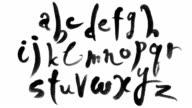Animated calligraphy latin alphabet video
