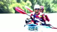 HD: Animated Canoeists video