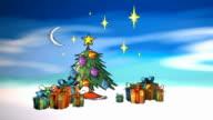 3D Animated Cartoon Christmas video