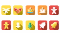 Animated Christmas and New Year Icons video