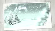 Animated Christmas Card (Blue) - Copy Space, Loopable video