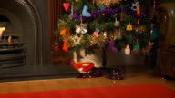 Animated Christmas presents video