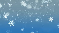 Animated Christmas snowflakes in winter video