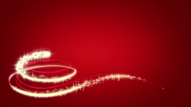 Animated Christmas tree on red video
