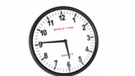 3D animated clock video
