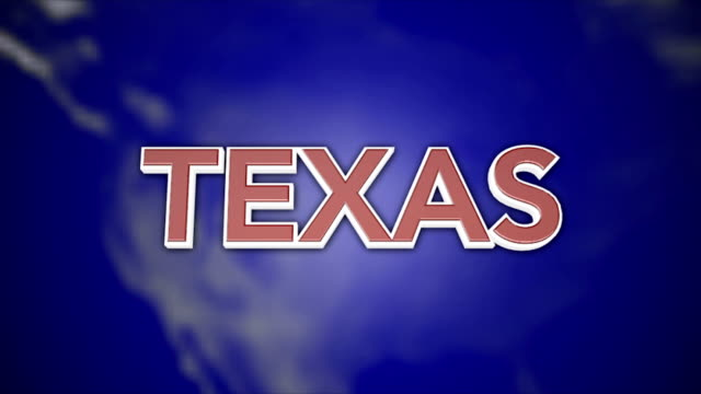 3D Animated Colorful Motion Graphics state typography - Texas video