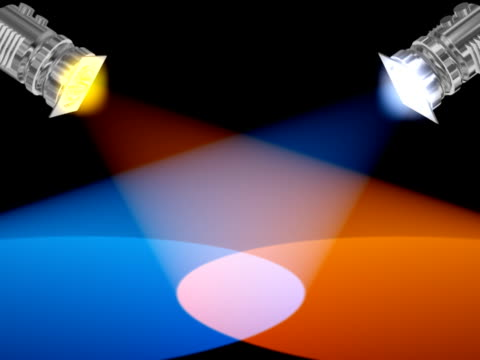 Animated colorful reflectors video