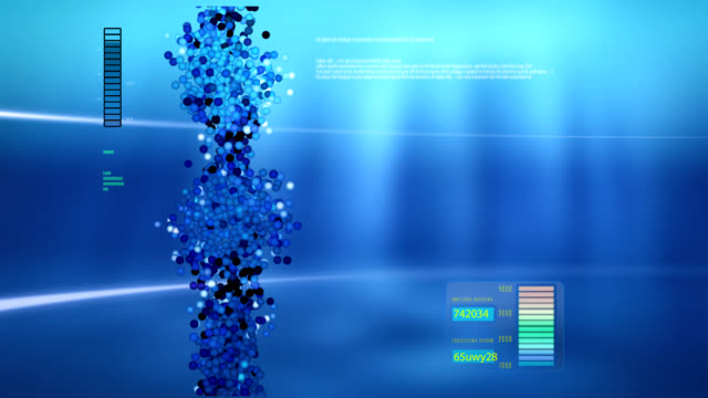 Animated DNA chain for computer screen. video