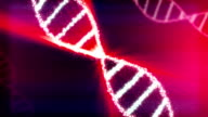 Animated DNA chain. video
