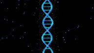 Animated DNA chain video