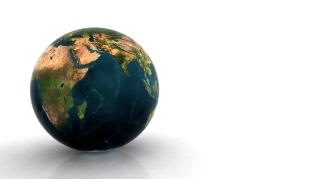 Animated Earth globe,seamless loop video
