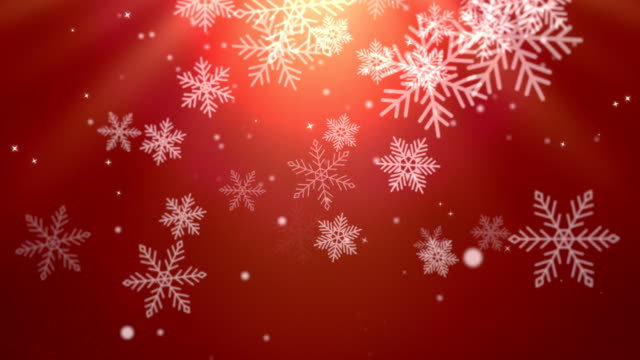 Animated falling Christmas snowflakes in winter video