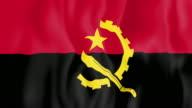 Animated flag of Angola video