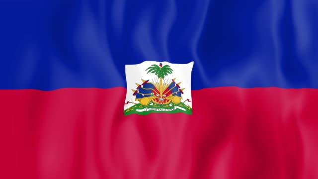 Animated flag of Haiti video
