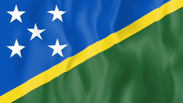 Animated flag of Solomon Islands video
