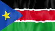 Animated flag of South Sudan video
