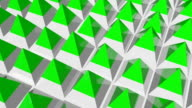 Animated floor formed from pyramids video