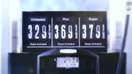 Animated Fuel Pump Price Sign close up video
