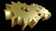 3D animated gears loop video