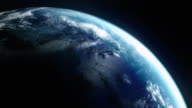 Animated globe. Video background. Earth from space. HD. Loop. video