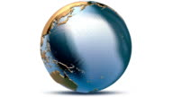 Animated globe. Video background. Metal Earth HD with Alpha. Loop. video