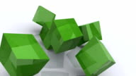 3D Animated Green Jello Squares Falling video