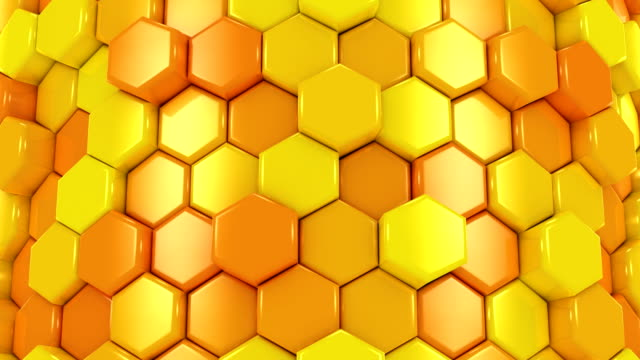 Animated Honeycombs Changes Color video