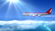 animated intro with airplane flying video